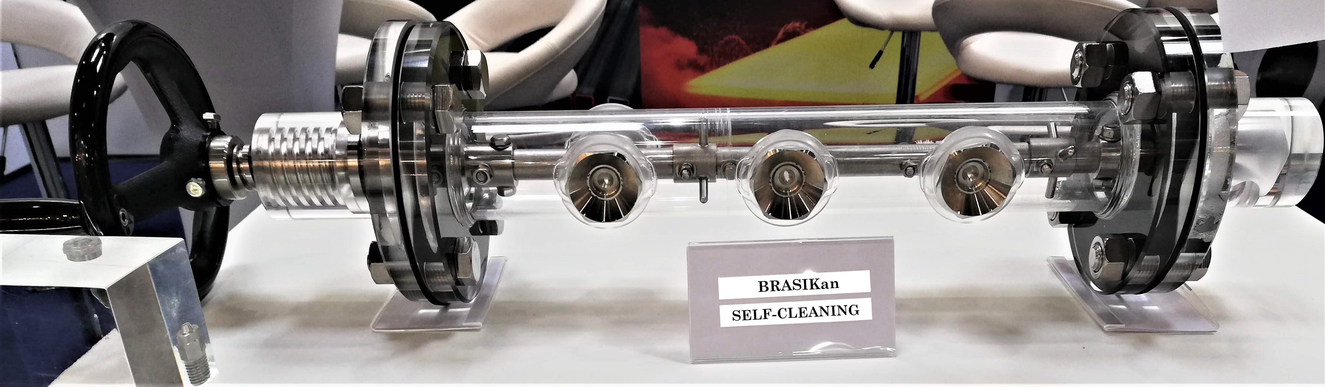 BRASIKan self cleaning nozzle header