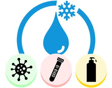efficiency of disinfection and droplet size